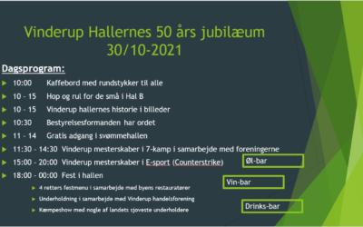 50 ÅRS JUBILÆUMSDAG I VINDERUP HALLERNE